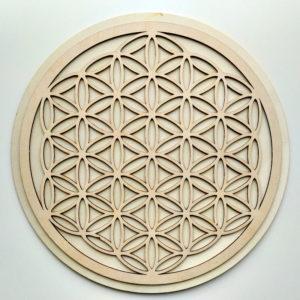 Kristallgitter aus Holz 30cm